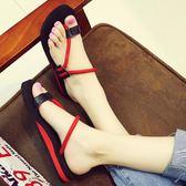 平底涼鞋 時尚平底涼拖沙灘鞋坡跟外穿防滑拖鞋百搭