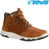 TEVA 頂級全皮超輕量科技大底中筒防水健走登山鞋ARROWOOD LUX MID WP - 棕