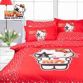 Hello Kitty 巨星 床包冬夏兩用被 單人三件組 台灣製