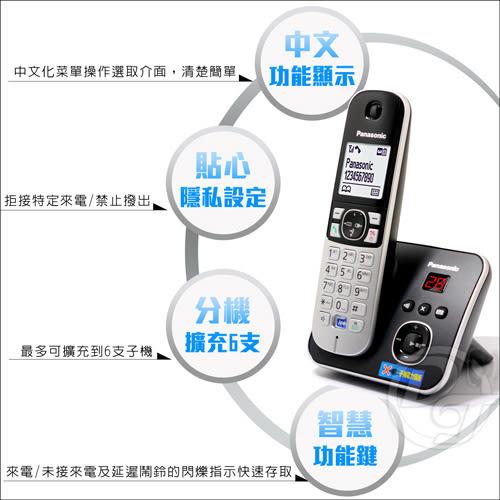 《一打就通》Panasonic國際牌DECT數位答錄無線電話 KX-TG6821(公司貨)