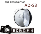 【EC數位】GODOX AD-S3-S4 蜂巢罩+柔光罩組 AD-360 AD-180 閃光燈專用