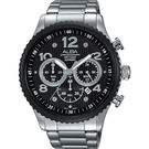 ALBA 雅柏 RACE 極限賽車計時手錶-黑/45mm VD53-X236D(AT3971X1)