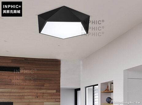 INPHIC- 現代簡約客廳臥室餐廳燈 藝術鑽石幾何線條LED三色吸頂燈-B款_S197C