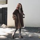 韓版寬鬆薄款毛呢大衣女2020秋冬新款學生中長款小個子呢子外套潮