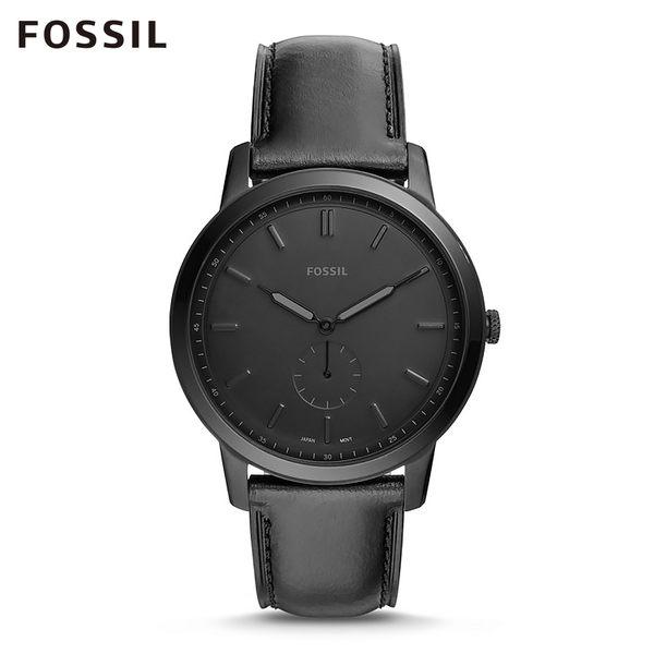FOSSIL MINIMALIST 霧黑極薄款手錶 男 FS5447