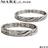 【MARE-316L白鋼】男女對鍊 系列: 雙水波 款