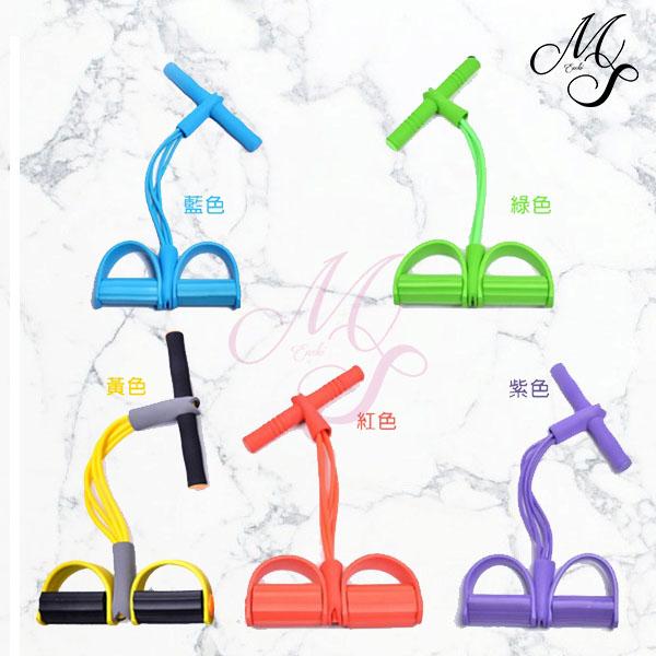 【99免運】多功能4管腳踏拉繩健腹拉力器(顏色不足隨機出貨) 【Miss Sugar】【K4002999】
