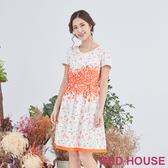 【RED HOUSE 蕾赫斯】散花洋裝(橘色)