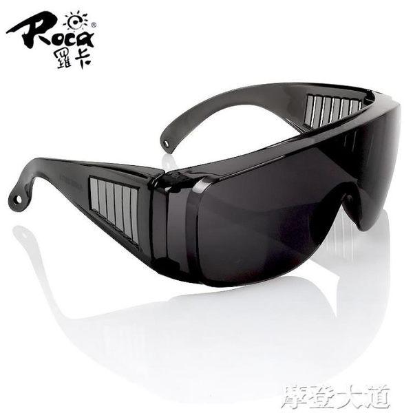 羅卡灰色防護眼鏡防風沙飛濺抗沖擊實驗室護目鏡摩托騎行太陽眼鏡『摩登大道』
