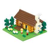 《 Nano Block 迷你積木 》【世界主題建築系列】NBH-151 瑞士小木屋╭★ JOYBUS玩具百貨