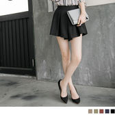 《BA2372》打褶造型輕透感棉麻短褲裙.5色 OrangeBear