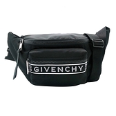 【台中米蘭站】全新品 GIVENCHY 4G 品牌logo中性尼龍肩背/腰包(黑)