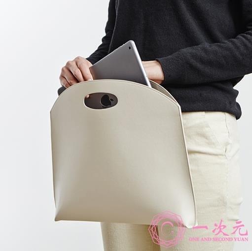 公事包 韓版時尚簡約氣質手拎手提包 商務文件包 A4公文包13寸筆記本電腦包