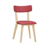 安琪拉紅色皮質餐椅(21CM/1062-15)/H&D東稻家居