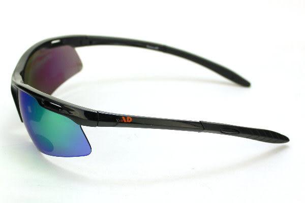 AD品牌~Orange系列超優質騎士黑色運動太陽眼鏡-Orange B