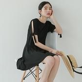 連身裙-純色韓版時尚優雅氣質女連衣裙73rx20[巴黎精品]