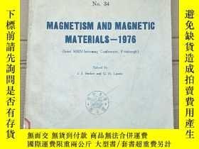 二手書博民逛書店magnetism罕見and magnetic materials 1976(P2685)Y173412