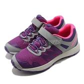 Merrell 運動鞋 Nova 2 紫 桃紅 灰 魔鬼氈 戶外鞋 女鞋 童鞋 小朋友【ACS】 MK164725