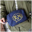 收納袋-自訂款-字母刺繡帆布化妝包-共2色-A01010160-天藍小舖