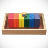 來而康 益智訓練 六色積木 童玩 附操作盤