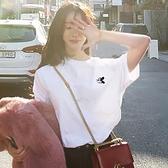 2021年夏裝新款白色t恤女短袖寬鬆韓版純色體恤米奇純棉上衣ins潮 【Ifashion】