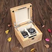 雅式澳洲紅櫻桃木純實木制手錶盒子手串鏈展示收藏收納盒箱兩只裝