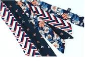 小絲巾飄帶女方巾百搭領帶裝飾韓國領巾襯衫發帶絲帶細窄長條襯衣    東川崎町