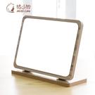 鏡子女臺式木鏡子家用折疊公主鏡子宿舍美容桌面梳妝鏡高清  熊熊物語