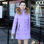 2020新款韓版修身羽絨棉衣女士中長款加厚外套棉服潮HX2514【花貓女王】