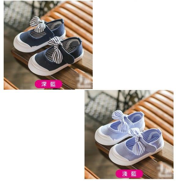 娃娃鞋 蝴蝶結包鞋 女中童休閒鞋 (14-16.5cm) KL22541