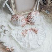 內衣 刺繡花朵蕾絲成套內衣-Ruby s 露比午茶