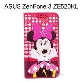 迪士尼彩繪皮套 [普普米妮] ASUS ZenFone 3 ZE520KL (5.2吋)【Disney正版授權】