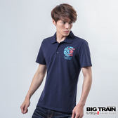 BIG TRAIN 雷神雙鯉魚POLO衫-男-丈青
