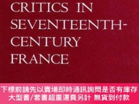 二手書博民逛書店Theatre罕見& Its Critics 17th Cent. France-戲劇及其評論家17分。法國Y
