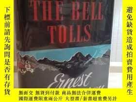 二手書博民逛書店海明威罕見喪鐘為誰鳴 一版一印 Ernest Hemingway FOR WHOM THE BELL TOLLS