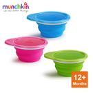 munchkin滿趣健-攜帶式矽膠摺疊碗-3入任選