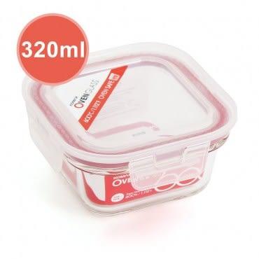 韓國KOMAX 耐熱玻璃保鮮盒-方型(520ml)