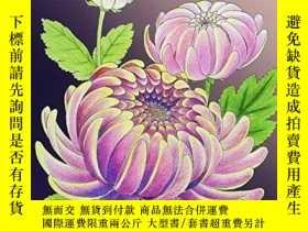 二手書博民逛書店Realistic罕見Flowers - A hand-drawn coloring bookY360448