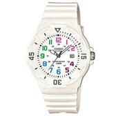 【CASIO】 運動潛水風格腕錶-數字白(LRW-200H-7B)