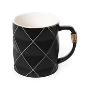 黑白菱格陶瓷杯 360ml 共兩主色款 混款隨機