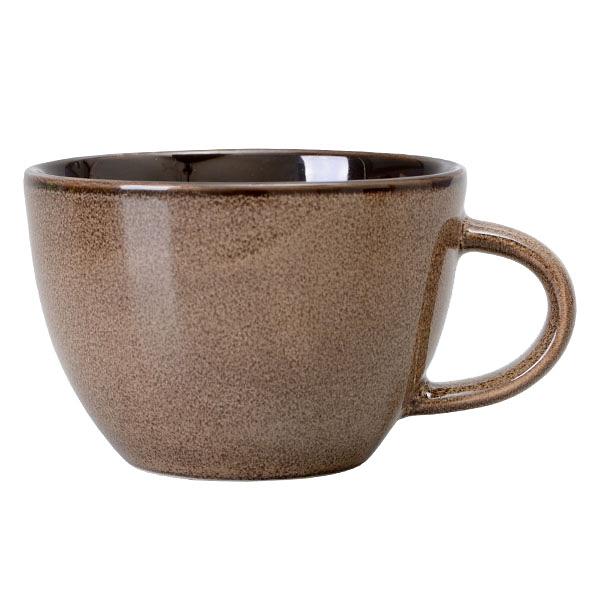 【Luzerne】陸升瓷器 Rustic 200ml茶杯-咖啡色 /RT1407124