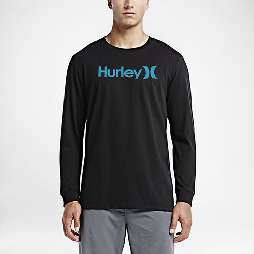 Hurley ONE & ONLY DRI-FIT LONG SLEEVE-長袖T恤-男(黑)