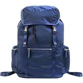 【南紡購物中心】agnes b雙側口袋多功能束口後背包-藍
