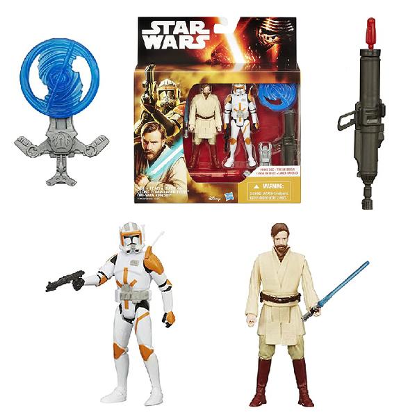 【Hasbro 孩之寶】星際大戰電影7 3.75吋 Clone Commander Cody & OBI-Wan Kenobi 雙入人物組 B3958/B3955