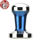 金時代書香咖啡【Tiamo】1220填壓器 C平底(C-FLAT) 58mm (藍) 附填壓止滑墊