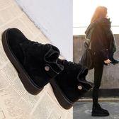 馬丁靴 短靴 chic馬丁靴女英倫學生韓版百搭秋冬棉靴單靴短靴2019春季新款女鞋『快速出貨』