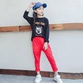 女童大學T秋裝2018新款韓版長袖T恤兒童春秋季洋氣休閒上衣童裝潮