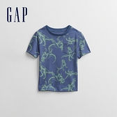 Gap男幼童 布萊納系列 童趣印花圓領短袖T恤 803622-藍色