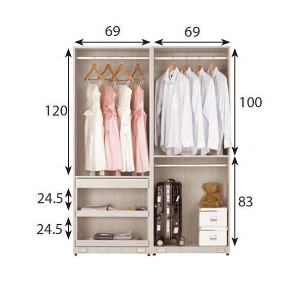 【森可家居】柏納德5尺拉門衣櫥 7CM084-4 衣櫃 木紋質感 無印北歐風