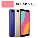 糖果手機 SUGAR Y12 全螢幕後置雙鏡頭 4G+3G雙卡雙待 5.45吋 3G/32G-金/藍~贈8G記憶卡[24期零利率]